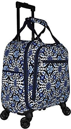 World Traveler 40-inch Hanging Garment Bag-Greek Key H Blue White