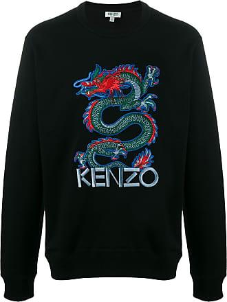 Kenzo Camiseta com bordado de dragão - Preto
