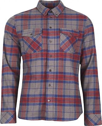 United By Blue Bridger Flannel Button Down Hemd für Herren   grau lila rot 741a4c0d80