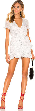 Superdown Jacelyn Wrap Dress in White