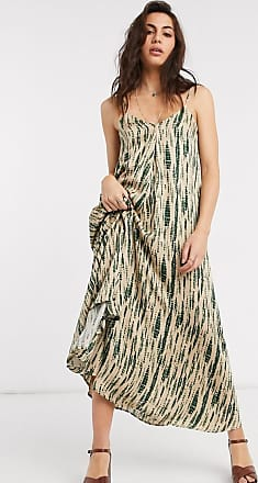 Object maxi cami dress with tie back in smudge print-Multi