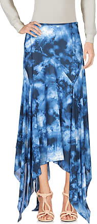 MICHAEL KORS COLLECTION Jupe mi longue Bleu Foncé 100% Laine