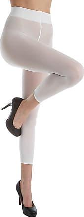 Wolford Velvet 66 Capri Leggings Medium 1300 White