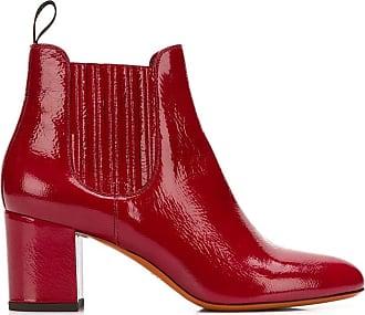 Santoni Ankle boot de couro - Vermelho