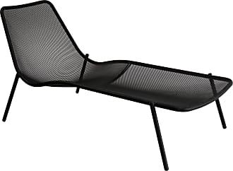 Emu Round Gartenliege - schwarz/pulverbeschichtet/LxBxH 78x160x77cm