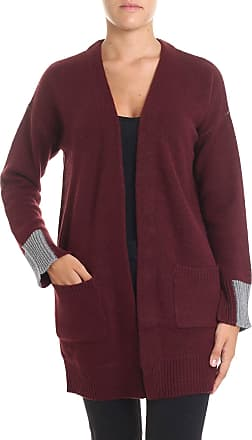 360 Cashmere Burgundy and grey Brito cardigan