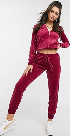 Juicy Couture Black Label Luxe Velour Zuma Jogger in pomegranate-Purple