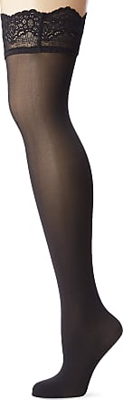 Wolford Womens Velvet Light Stay-Up Tights, 40 DEN, Black, X-Small (Size:XS)