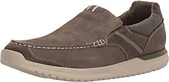 Rockport Mens Langdon Slip On Oxford, Breen Leather, 7.5 W US