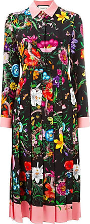 f2c06b6e2 Gucci Flora snake print silk dress - Multicolour