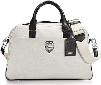 8049cd4648e0 Tiffany   Co. Tiffany Travel flight bag in cotton canvas with black grain  leather accents