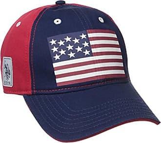 U.S.Polo Association Womens American Flag Baseball Hat, Navy, One Size