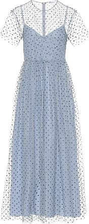 Red Valentino Embellished tulle midi dress