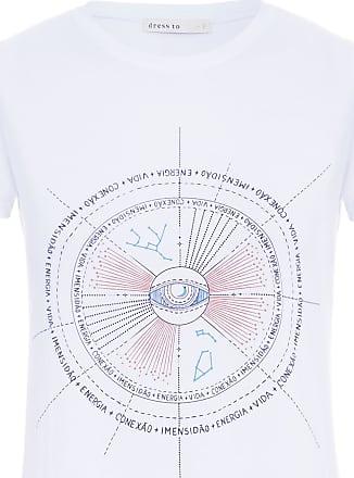 Dress To Blusa Silk Mapa Astral - Branco