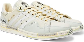 Raf Simons + Adidas Originals Peach Stan Smith Printed Leather Sneakers - White