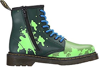 c3073b069122 Dr. Martens Dr Martens Junior TMNT Leo Leather Lace Up   Zip Boot Green Size