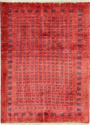 Nain Trading 118x90 Tappeto Orientale Persia Gabbeh Loribaft Arancione/Rosso (Lana, Persia/Iran, Annodato a mano)