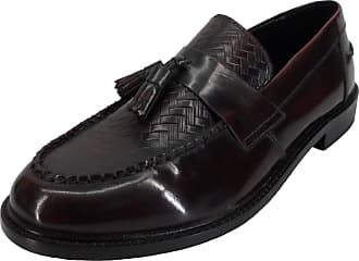 Ikon Mens Selecta Tassle Loafers (12 UK, Oxblood Weave)