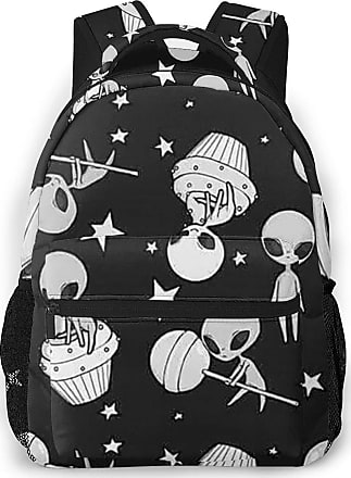 Smile-life Universe Alien Lightweight School Backpack Fits School Travel Business 15 Inch Laptop Casual Daypack