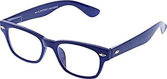 Peepers Womens Clark - Blue 2488125 Square Reading Glasses, Blue, 1.25