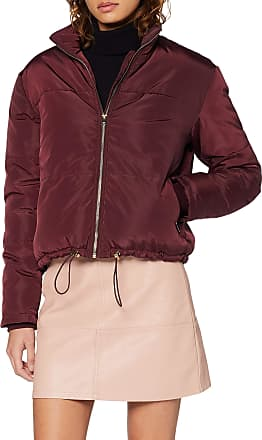 New Look Womens Cropped Satin Puffer Jacket