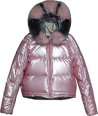 VITryst Women Hooded Packable Light Weight Short Down Jacket Parka Coat,Pink,X-Large