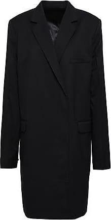 Helmut Lang Helmut Lang Woman Wool-twill Coat Black Size 10