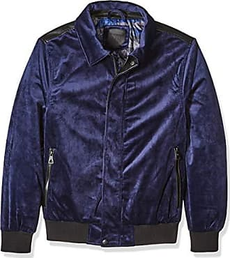 Urban Republic Mens Woven Velvet Jacket, Blue, M
