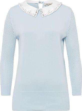 Uta Raasch Pullover abnehmbaren Kragen Uta Raasch blau