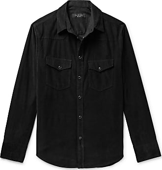 Rag & Bone Beck Garment-dyed Cotton-corduroy Western Shirt - Black