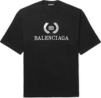 4442ae028d6 Balenciaga Oversized Logo-print Cotton-jersey T-shirt - Black