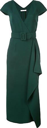 Oscar De La Renta belted wrap-front dress - Green