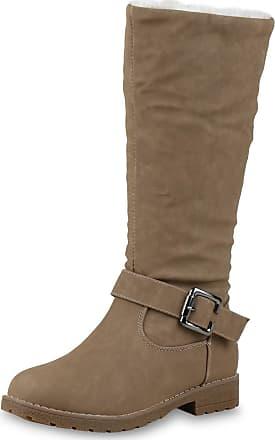 Scarpe Vita Women Winter Boots Warm Lined Synthetic Fur Buckle 172583 Khaki UK 6.5 EU 40