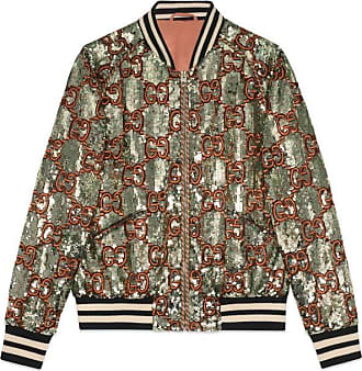 ce408a74e Gucci Sequin bomber jacket with GG embroidery
