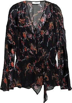 Iro Iro Woman Linette Wrap-effect Floral-print Chiffon Blouse Black Size 34