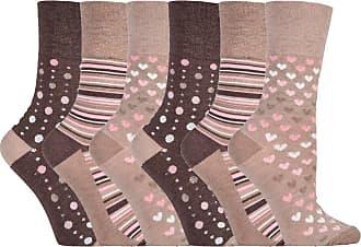 SockShop 6 pairs Gentle Grip Loose Top Non Binding Elastic Bamboo Socks UK 4-8 EUR 37-42 (RM34)