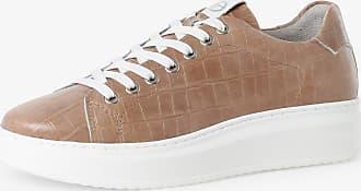 Tamaris Damen Sneaker mit Leder-Anteil braun
