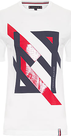 Tommy Hilfiger T-SHIRT MASCULINA DECONSTRUCTED - BRANCO