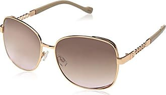 Jessica Simpson Womens J5512 Rgdnd Non-Polarized Iridium Round Sunglasses, Rose Gold Nude, 65 mm