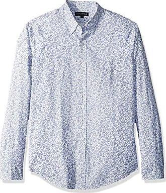 J.crew Mens Classic-Fit Long-Sleeve Stretch Printed Floral Poplin Shirt, Cragmore Peri Salt, M