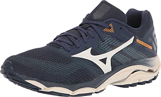 Mizuno Mens Wave Inspire 16 Road Running Shoe, Mood Indigo-Winter White, 11.5 UK