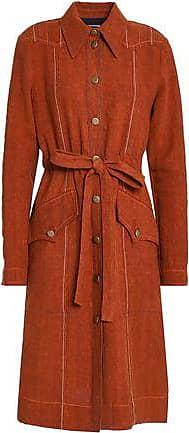 Sonia Rykiel Sonia Rykiel Woman Tie-front Linen Dress Tan Size 36
