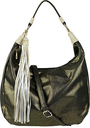 Girly HandBags Girly HandBags Snake Skin Shimmer Hobo Bag - Black