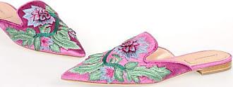 Alberta Ferretti Embroidery Flat Mules size 40