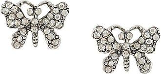 Oscar De La Renta butterfly-shaped earrings - CRY SHADE/SILVR
