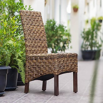 International Caravan Inc Manila Abaca Mahogany Dining Chair (Brown - Parson Chairs/Side Chairs)