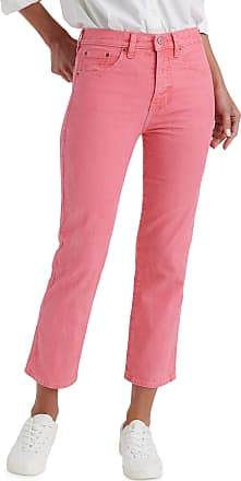 Lucky Brand Womens Mid Rise Authentic Straight Crop Jean, Vintage Tea Rose, 30W x 26L
