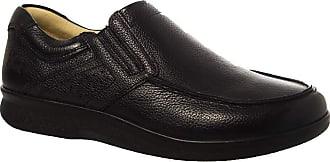 Doctor Shoes Antistaffa Sapato Masculino 3051 em Couro Floater Preto Doctor Shoes-Preto-39