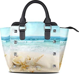 NaiiaN Purse Shopping Shoulder Bags Vintage for Women Girls Ladies Student Leather Seashells Beach Tote Bag Light Weight Strap Handbags