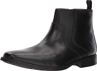 192f0dce0f5 Clarks Mens Tilden Zip Fashion Boot Black Leather 115 M US